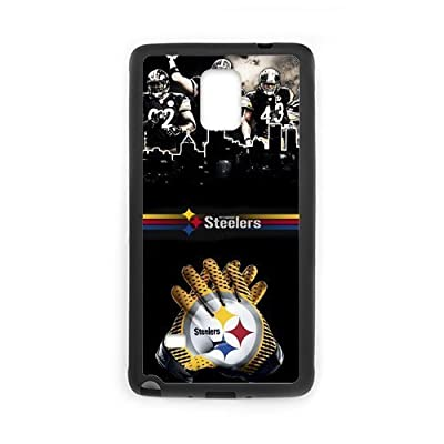 Morimo Custom Protective Phone Case for SamSung Galaxy Note 4,Cool Pittsburgh?Steelers Laster Technology Nice Quality Plastic and TPU Cover