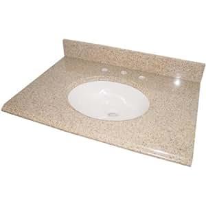 Amazon.com: Pegasus PE25682 25-Inch Granite Vanity Top ...
