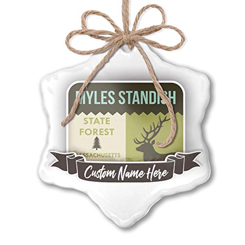 NEONBLOND Create Your Ornament National US Forest Myles Standish State Forest Personalized