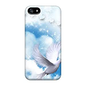 For DaMMeke Iphone Protective Case, High Quality For Iphone 5/5s Angels Cloud Skin Case Cover