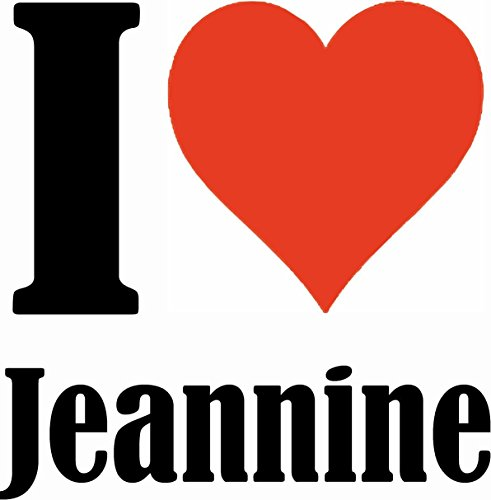 "Handyhülle iPhone 4 / 4S ""I Love Jeannine"" Hardcase Schutzhülle Handycover Smart Cover für Apple iPhone … in Weiß … Schlank und schön, das ist unser HardCase. Das Case wird mit einem Klick auf deinem"