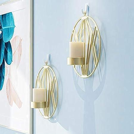 Chandeliers Muraux En M/étal D/écorations Murales Noir/×2 /Éclairage Pour Le D/îner Aux Chandelles Dans Le Salon // Salle /À Manger // Comptoir