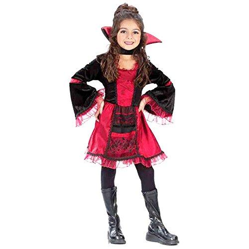 Sassy Victorian Vampiress Child's Costume (Size: Medium 8-10) -
