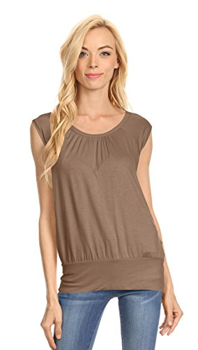 Short Sleeve Top Gathered Banded