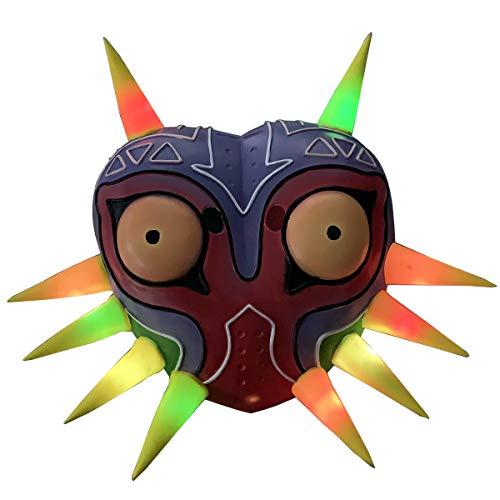 Led Light Majora's Mask Colorful Latex Mask Cosplay Costume Accessory ()