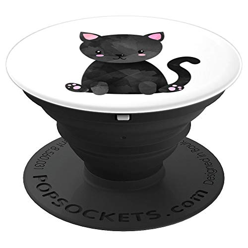 Cute Kawaii Pet Kitty Cat Cartoon Anime Animal Adorable Face - PopSockets Grip and Stand for Phones and Tablets