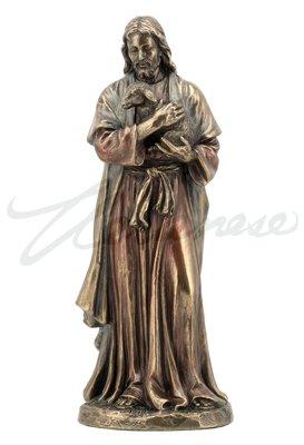 (6.25 Inch Jesus Holding A Lamb Cold Cast Bronze Figurine Statue)