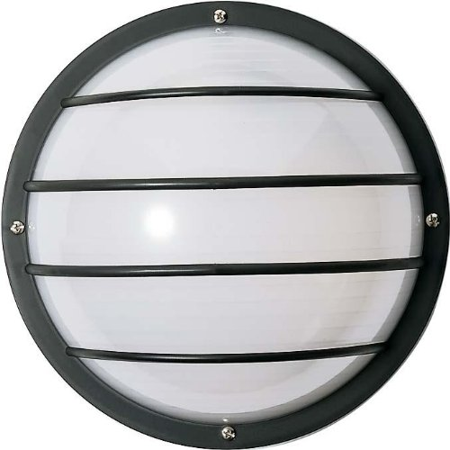 Nuvo SF77/861 Bulkhead 1-Light Round Cage 75W A19, White