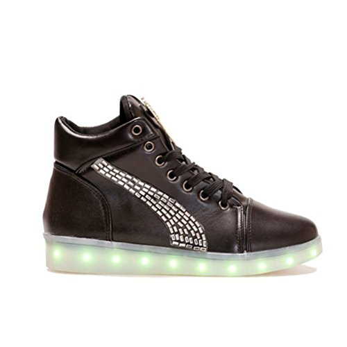 small Led Present High Up 7 towel JUNGLEST Light Trainers Sh Top White Colors xXHrdqHSn