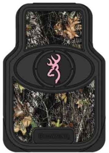 (Browning Camo Floor Mats, Front, Mossy Oak New Break-Up Pink, Pack of 2)