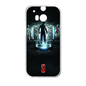 HTC One M8 Cell Phone Case White Iron Man 3 Poster T2E5NY