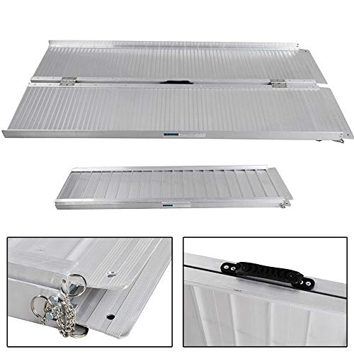 Aluminum Wheelchair Ramp 5'Ft Briefcase Fold Utility Loading Ramp for Wheelchairs Scooters Mobility ()