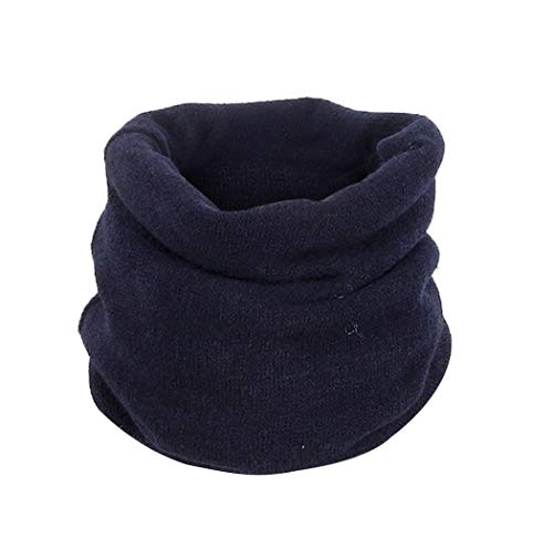 minRan Fahsion Unisex 100% High Material Lovers Winter Solid Warm Knit Cowl Neck Cotton Scarf Shawl Ring