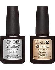 CND Shellac UV3 Base Coat and Top Coat, (15 and 12.5 ml)