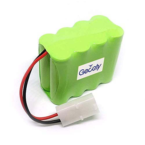Gecoty 9.6V 500mAh Ni-cd Rechargeable AA Battery Pack KET 2P Plug for Huanqi 781 782 RC Battle Car and Other Similar Remote Control Toys