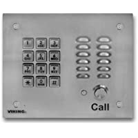 VIKING ELECTRONICS STAINLESS STEEL VANDAL AND WEATHER RESIS. HF PHONE/KEYPAD / K-1700-3 /