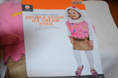Double Scoop Ice Cream Cone Halloween Costume NWT Infant Toddlers 2t-3t ()