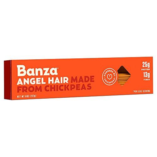 Banza Chickpea Pasta - High Protein Gluten Free Healthy Pasta - Angel Hair (Pack of 6)