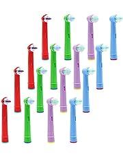 YanBan - Cabezales de repuesto para cepillo de dientes infantil Oral B Advance Power Pro Health 3D Excel (16 unidades)