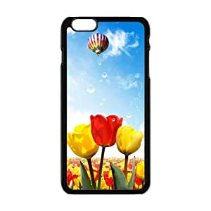"New Fashion Beautiful Purple Pink Tulips Flowers Field Design Printed Cool Case for iPhone 6 5.5"" w10-02"