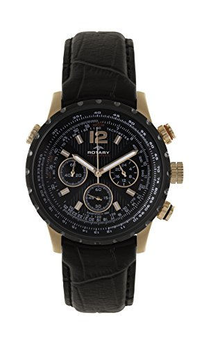 Rotary GS00121/04 Mens Watch Chronograph Aquaspeed Pilot Inner Rotating Bezel