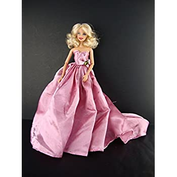 Fun Burgundy Party Dress  Made to Fit Barbie Doll