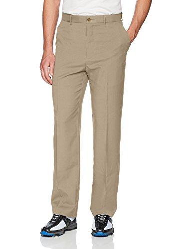 - PGA TOUR Men's Flat Front Golf Pant with Expandable Waistband, Chinchilla, 34X32
