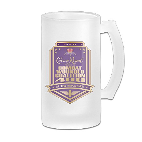 Crown Royal Beer Glass Frosted Glass Beer Mugs Beer Stein 16 Oz Great For Coffee, Wine , Beer, Whiskey Or Any Cold Drinks