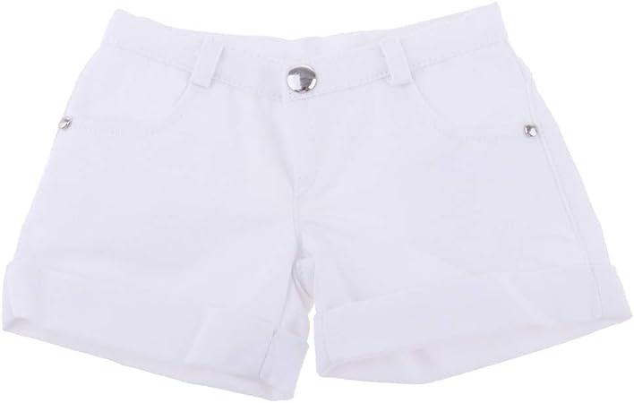 Amazon.es: Toygogo Ropa Blanca De Los Pantalones Cortos con ...