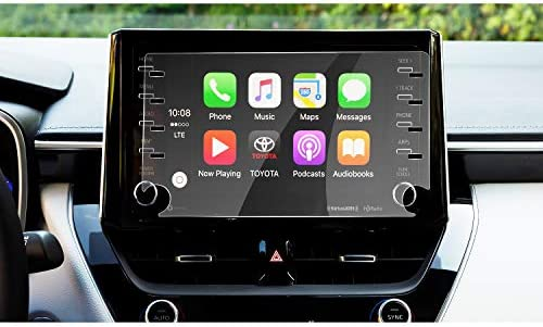 XHULIWQ カーナビゲーションスクリーンプロテクター中央制御ディスプレイスクリーンカーインテリアステッカー、トヨタカローラC-HR 2019 2020用