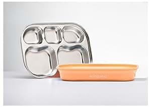 Compartment Food Storage Container Color: Peach/Cream