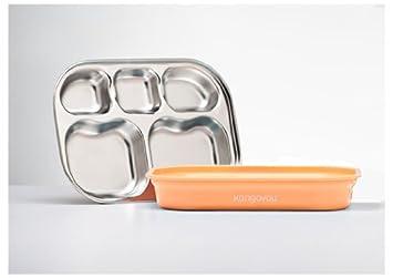 kangovou Edelstahl Fach Teller Peaches and Cream