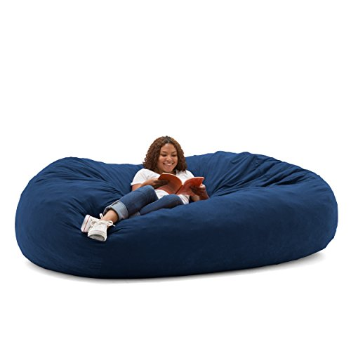 Big Joe XXL Fuf Foam Filled Bean Bag Chair, Comfort Suede, Blue Sky by Big Joe
