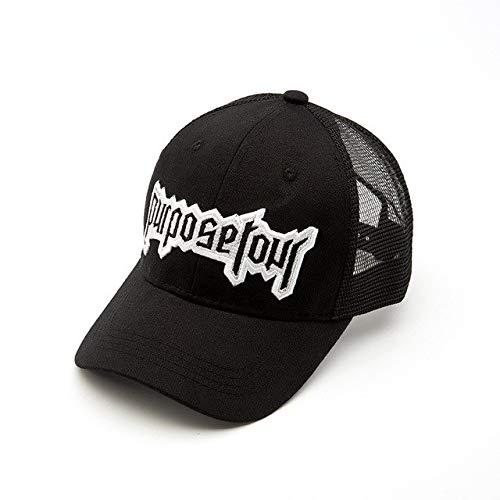 Purpose Tour Embroidered Baseball Cap Retro Justin Bieber Hat High Street Dark