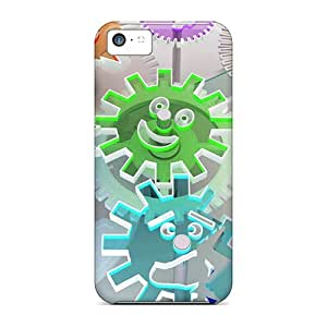 Special Mycase88 Skin Cases Covers For Iphone 5c, Popular Gears 3d Phone Cases