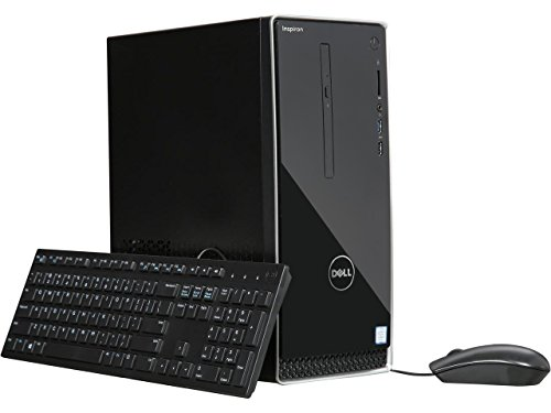 2018 Dell Inspiron 3668 High Performance Desktop -Intel Quad-Core i5-7400 Up to 3.5GHz, 8GB DDR4, 1TB HDD + 256GB SSD, DVDRW, Bluetooth, HDMI, 802.11bgn, MaxxAudio, 5-in-1 Media Card Reader, Win 10 (Memory Digital Dell)