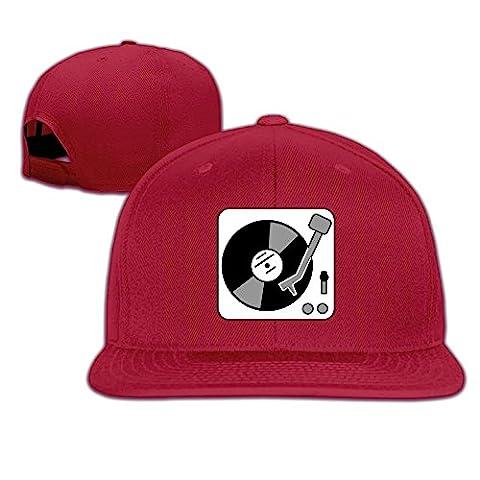 Baseball Hat Turntable Music Vinyl Record Dj Snapback Hats Plain Cap (9 Dj Rack)