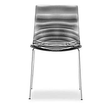 calligaris l eau chair smoked grey amazon co uk kitchen home