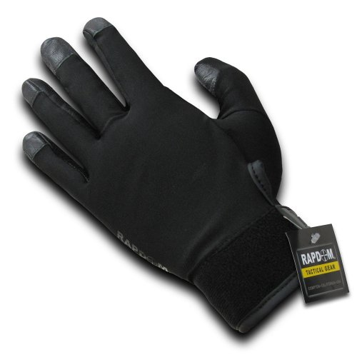 RAPDOM Tactical Lycra Duty Gloves, Black, Medium by RAPDOM