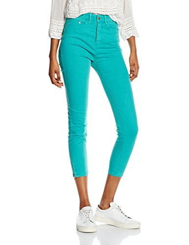 Cortefiel, JEANS SKINNY COTTON CREMALL BAJO - Pantalones para mujer Verde (Green)