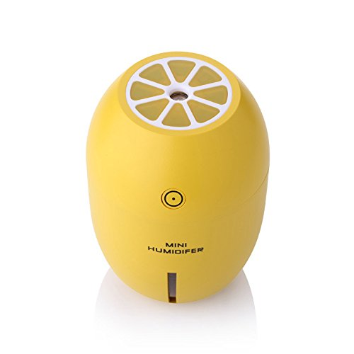 Toogoo Lemon Ultrasonic Air Humidifier Essential Oil Diffuser Aroma With LED Lamp Aromatherapy Spray Air Diffuser USB Humidifier Yellow LM-001