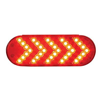 Grand General 77126 LED Light (Oval Red Sequential 5-Arrow Spyder 35-, Red Lens), 1 Pack: Automotive