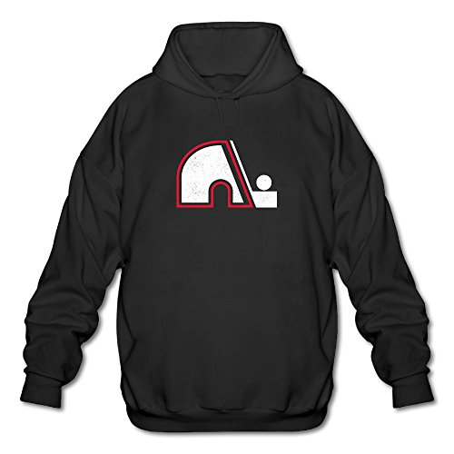 Mens Old Time Hockey Quebec Nordiques Logo Fashion Pullov...