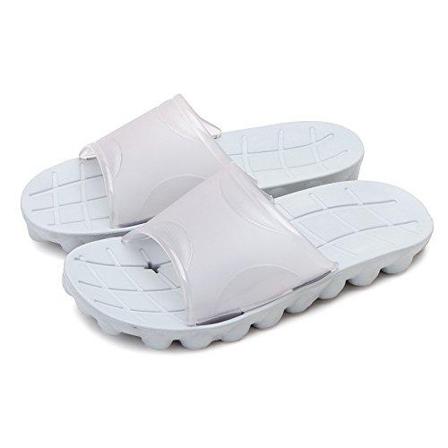 in antiscivolo Grigio1 pantofole bagno di bagno da acqua di ciabatte ha paio estate grandi Codice Un pantofole uomini dimensioni da un DogHaccd vasca cool home plastica 46waqq