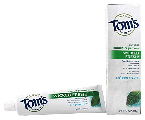 Tom's of Maine Natural Wicked Fresh Fluoride Toothpaste Cool Peppermint 4.70 oz