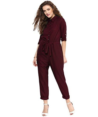 Uptownie Lite Women's Crepe Roll Up Jumpsuit