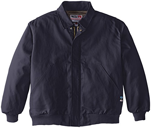 (Walls Men's Flame Resistant Big and Tall Insulated Bomber Jacket, Navy, 4X-Large/Tall)