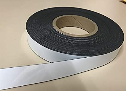 Dry Erase Magnetic Strip Roll Write on//Wipe Off Magnet Without Marker Half inch x 200 Feet