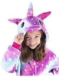 623611ec28b0 Unicorn One Piece Pajamas for Girls Onesies Kids Adults Birthday Fleece  Costumes AboveTheClouds