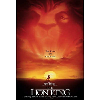 2002 The Lion King 27 x 40 inches Style A Movie Poster